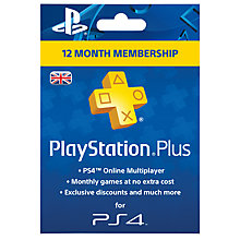 Buy PlayStation Plus - 365 Day Subscription Online at johnlewis.com