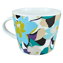 Buy Scion Floral Mug, 0.35L, Aqua Online at johnlewis.com