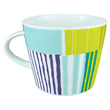 Buy Scion Stripes Mug, 0.35L, Aqua Online at johnlewis.com