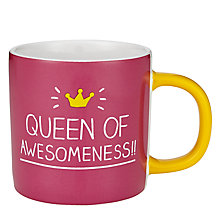 Buy Wild & Wolf Happy Jackson Queen Of Awesome Mug Online at johnlewis.com