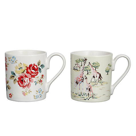 Buy Cath Kidston Larch Safari Mug, Set of 2 Online at johnlewis.com