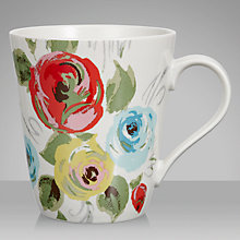 Buy Cath Kidston Painterly Rose Stanley Mug Online at johnlewis.com