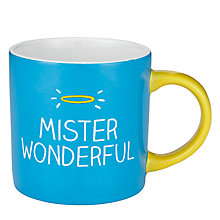 Buy Wild & Wolf Happy Jackson Mister Wonderful Mug Online at johnlewis.com