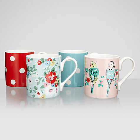 Buy Cath Kidston Assorted Budgie Mugs, Set of 4 Online at johnlewis.com