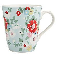 Buy Cath Kidston Stanley Daisy Mug, Bright Blue Online at johnlewis.com