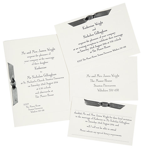 Wedding Invitations John Lewis Archive