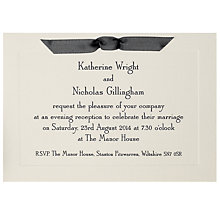 Buy The Letter Press Imperial Evening Invitations, Pack of 60 Online at johnlewis.com