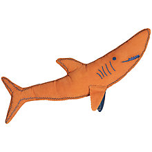 Buy little home at John Lewis Walk The Plank Shark Cushion Online at johnlewis.com