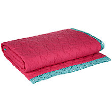 Buy little home at John Lewis Abbey Throw, Pink Online at johnlewis.com
