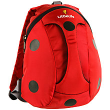 Buy LittleLife Ladybird Active Grip Toddler Rucksack, Red/Black Online at johnlewis.com