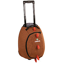 Buy LittleLife Dinosaur Wheelie Bag, Brown Online at johnlewis.com