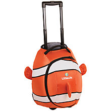 Buy LittleLife Clownfish Wheelie Bag, Orange/White Online at johnlewis.com