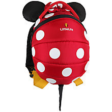 Buy LittleLife Minnie Mouse Toddler Backpack, Red Online at johnlewis.com