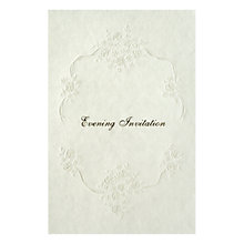 Buy CCA Pearls Personalised Wedding Evening Invitations, Pack of 60, Gold Online at johnlewis.com