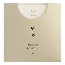 Buy CCA Golden Pockets Personalised Wedding Invitations, Pack of 60, Gold Online at johnlewis.com