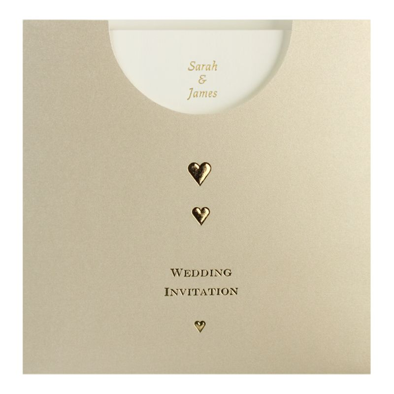 buy cca golden pockets personalised wedding invitations With pack of 60 wedding invitations