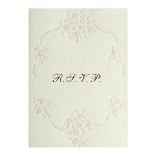 Buy CCA Pearls Personalised Wedding RSVP Reply Cards, Pack of 60, Gold Online at johnlewis.com