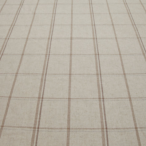 Buy John Lewis Parton Twill Fabric, Natural Check, Price Band D Online at johnlewis.com