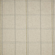 Buy John Lewis Parton Twill Fabric, Natural/Duck Egg Check, Price Band D Online at johnlewis.com
