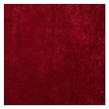 Buy John Lewis Como Cut Pile Velvet Fabric, Crimson Red, Price Band F Online at johnlewis.com