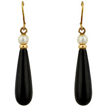 Buy Sharon Mills 9ct Gold Onyx Drop Earrings Online at johnlewis.com