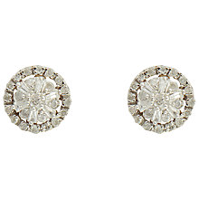 Buy Sharon Mills 9ct Gold Diamond Cluster Stud Earrings Online at johnlewis.com