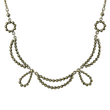 Buy Sharon Mills 1950s Silver Marcasite Swags Necklace Online at johnlewis.com