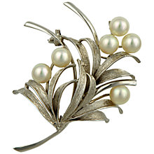 Buy Sharon Mills Silver Cultured Peals Spray Brooch Online at johnlewis.com