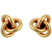 Buy Sharon Mills 9ct Gold Large Knot Stud Earrings Online at johnlewis.com