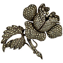 Buy Sharon Mills 1950s Silver Marcasite Rose Brooch Online at johnlewis.com
