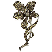 Buy Sharon Mills 1950s Silver Marcasite Orchid Spray Brooch Online at johnlewis.com