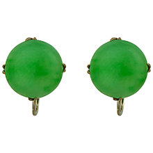 Buy Sharon Mills 9ct White Gold Jade Cabochon Stud Earrings Online at johnlewis.com