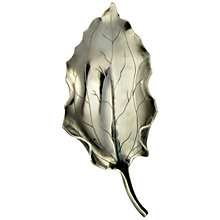 Buy Sharon Mills 1950s Silver Holly Leaf Brooch Online at johnlewis.com
