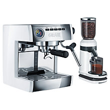 Buy Graef ES86 Espresso Coffee Machine with CM81 Coffee Grinder, White Online at johnlewis.com