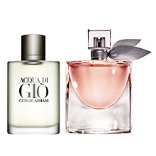 Buy Lancôme La Vie Est Belle Eau de Parfum, 30ml and Giorgio Armani Acqua di Giò Homme Eau de Toilette Spray, 100ml Online at johnlewis.com