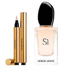 Buy Yves Saint Laurent Touche Éclat Complexion Highlighter, 1 and Giorgio Armani Si Eau de Parfum, 30 ml Online at johnlewis.com