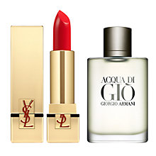 Buy Yves Saint Laurent Le Rouge Pur Couture, N°1 Le Rouge and Giorgio Armani Acqua di Giò Homme Eau de Toilette, 100ml Online at johnlewis.com