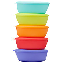 Buy John Lewis Baby Feeding Bowls, Pack of 5, Multi Online at johnlewis.com