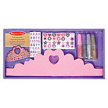 Buy Melissa & Doug Make Your Own Princess Tiara Kit Online at johnlewis.com