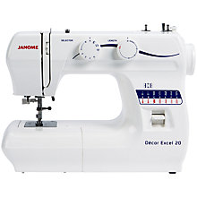 Buy Janome Decor Excel 20 Sewing Machine Online at johnlewis.com