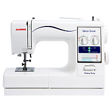 Buy Janome Decor Excel HD Sewing Machine Online at johnlewis.com