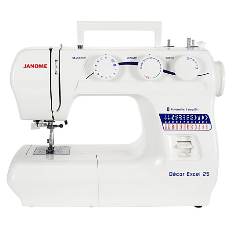 Buy Janome Decor Excel 25 Sewing Machine Online at johnlewis.com