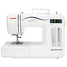 Buy Janome Decor Excel 30 Sewing Machine Online at johnlewis.com