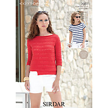 Buy Sirdar Cotton DK Leaflet, 7081 Online at johnlewis.com