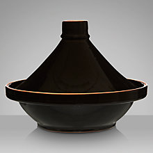 Buy Molton Ceramic Tagine, Black Online at johnlewis.com