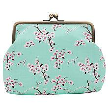 Buy John Lewis Blossom Snap Purse, Blue/Pink Online at johnlewis.com