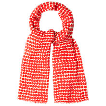 Buy White Stuff Spice Spot Scarf, Red Online at johnlewis.com