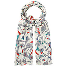 Buy White Stuff Birds Of A Feather Scarf, Multi Online at johnlewis.com