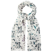 Buy White Stuff Butterfly Scarf, White / Teal Online at johnlewis.com