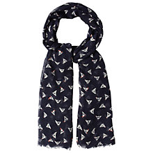 Buy White Stuff Clucky Scarf, Dark Atlantic Online at johnlewis.com